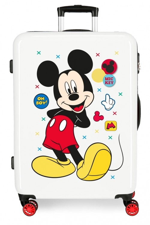 4681861 maleta mediana mickey enjoy the day oh boy blanco