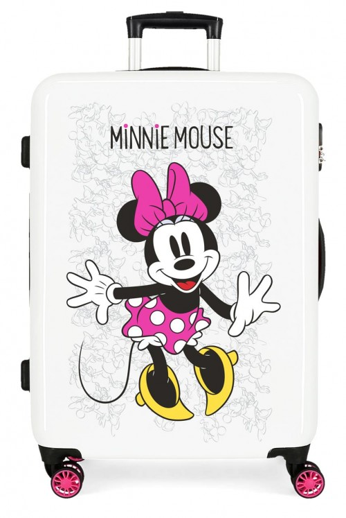 4681864 maleta mediana minnie enjoy the day blanco