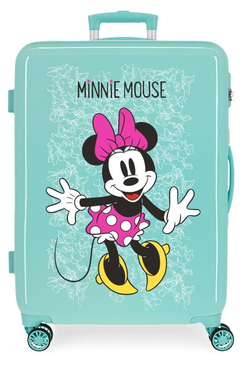 4681869 maleta mediana turquesa minnie  enjoy the day