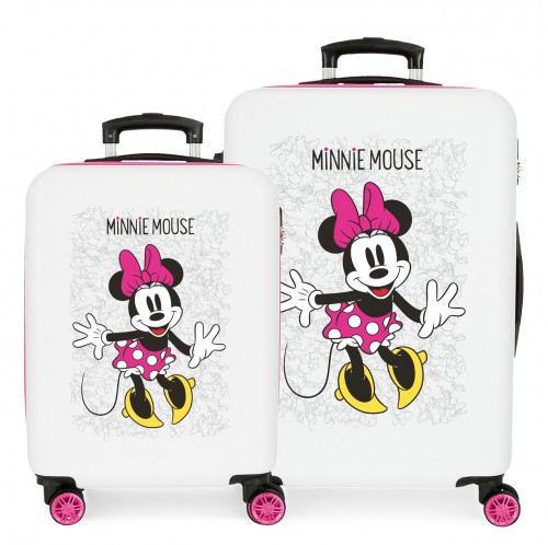 4681964 set maleta cabina y mediana minnie enjoy the day blanco