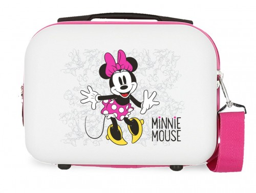 4683964 neceser rígido minnie enjoy the day blanco