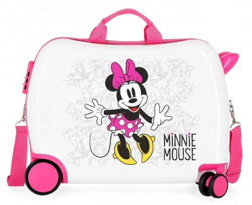 4689864 maleta infantil minnie enjoy the day blanco