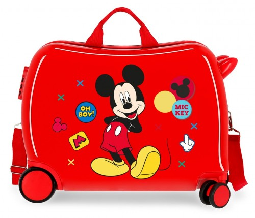 4689867 maleta infantil mickey enjoy the day oh boy rojo