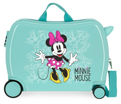 4689869 maleta infantil turquesa Minnie enjoy the day