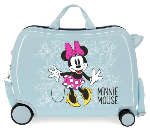 468986A maleta infantil azul minnie enjoy the day