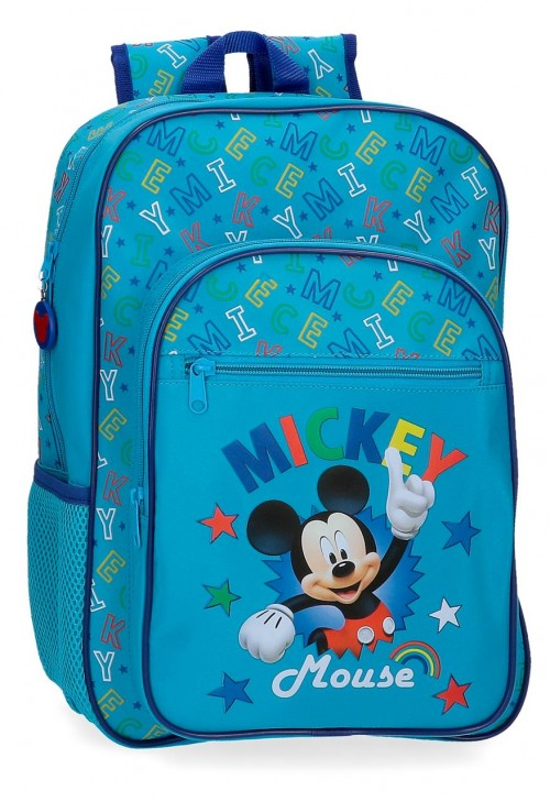 4782361 mochila mediana 38cm adaptable mickey stars
