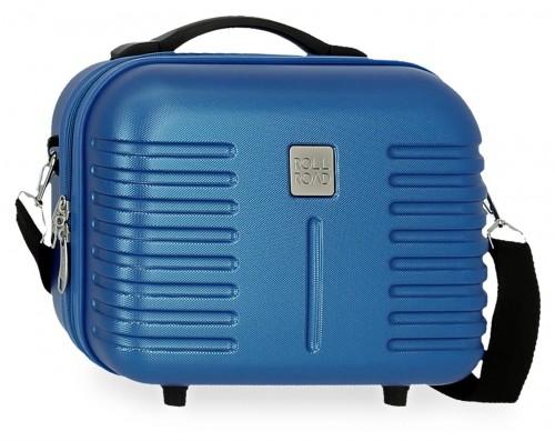 5083924 neceser rígido adaptable y con bandolera india azul