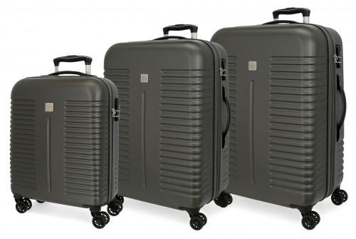5089422 juego maletas cabina, mediana y grande india antracita