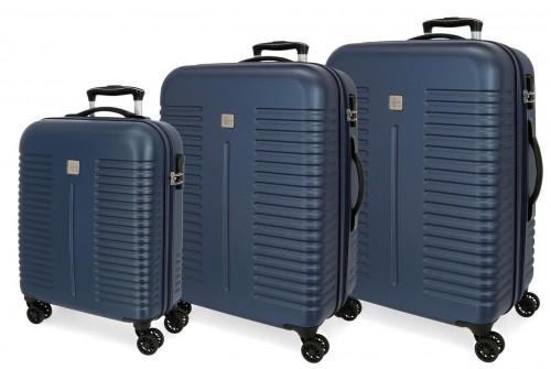 5089423 juego maletas cabina, mediana y grande india marino
