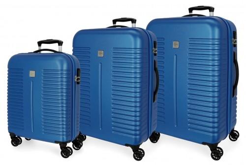 5089424 juego maletas cabina, mediana y grande india azul