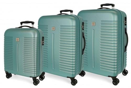 5089425 juego maletas cabina, mediana y grande india turquesa