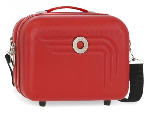 5993964 neceser rígido adaptable y bandolera movom riga rojo