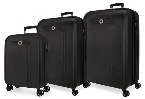 5999461 juego maletas cabina, mediana y grande riga negro