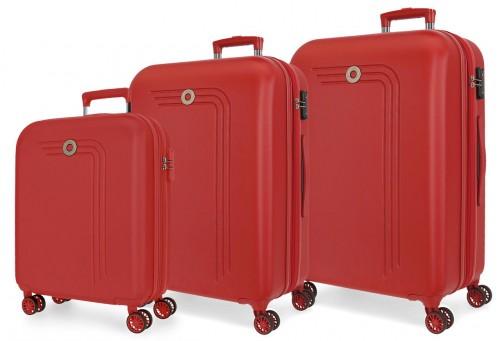 5999464 juego maletas cabina, mediana y grande riga rojo