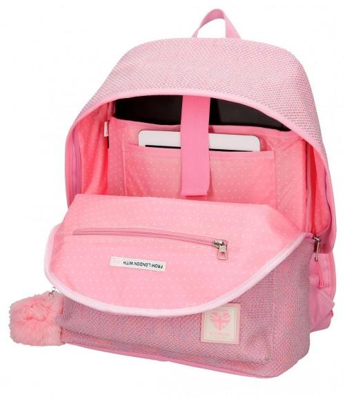 6012321 mochila 42cm portaordenador pepe jeans rose rosa