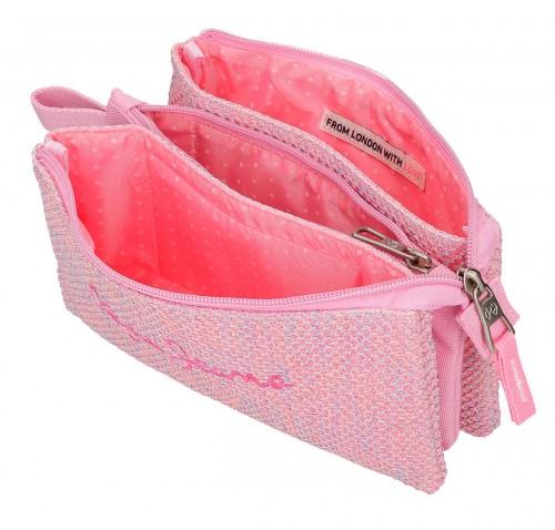 6014321 portatodo triple compartimento pepe jeans rose rosa