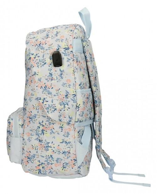 60223D1 mochila 42cm adaptable a trolley pepe jeans malila