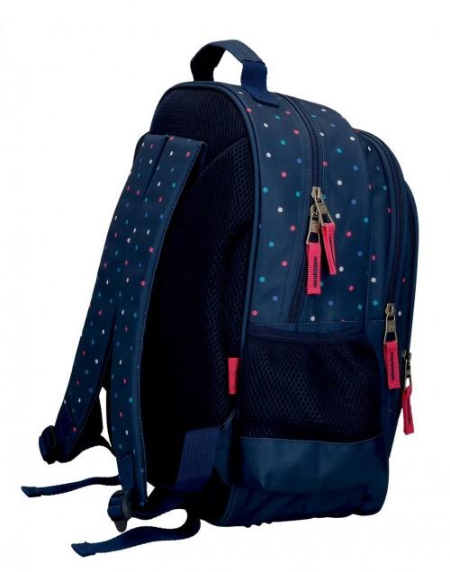 6062221 mochila mediana 38 cm  de doble compartimento  adaptable  pepe jeans molly