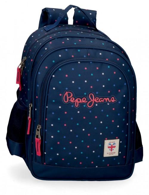6062221 mochila mediana 38 cm adaptable de doble compartimento pepe jeans molly