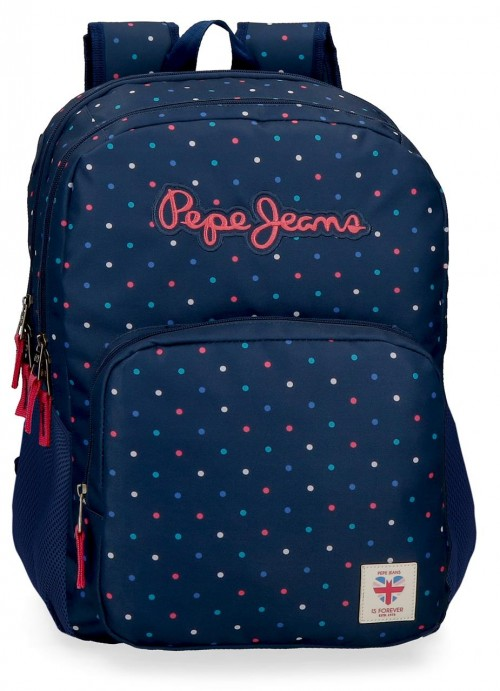 60624D1 mochila 46cm doble comp. adaptable pepe jeans molly