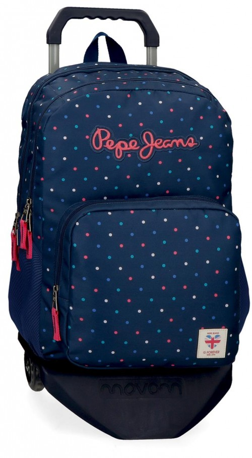 60624T1  mochila 46cm doble comp. con carro pepe jeans molly