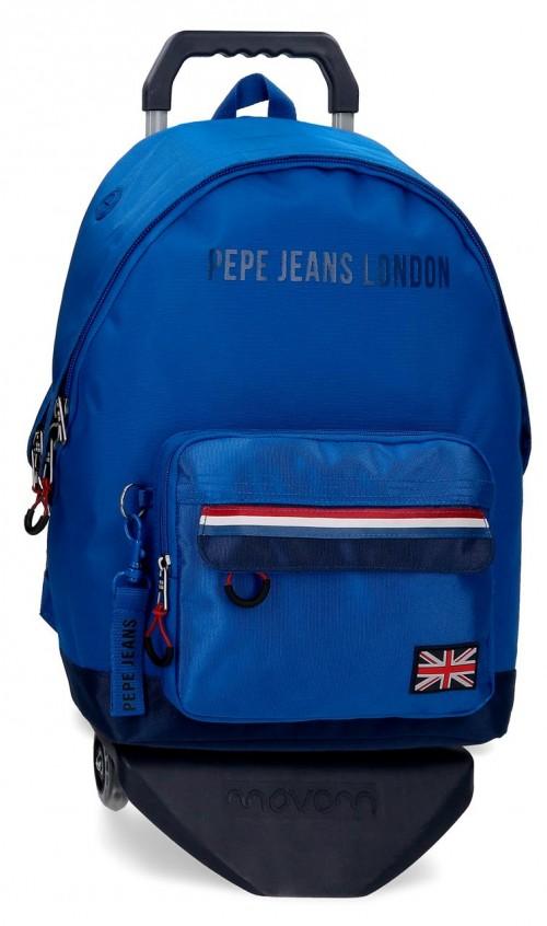 60923T1  mochila 44cm con carro pepe jeans overlap