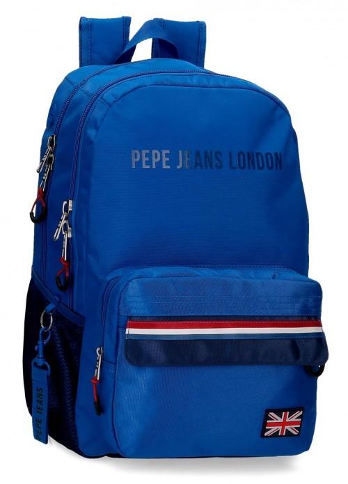 6092421 mochila 46 cm doble compartimento pepe jeans overlap