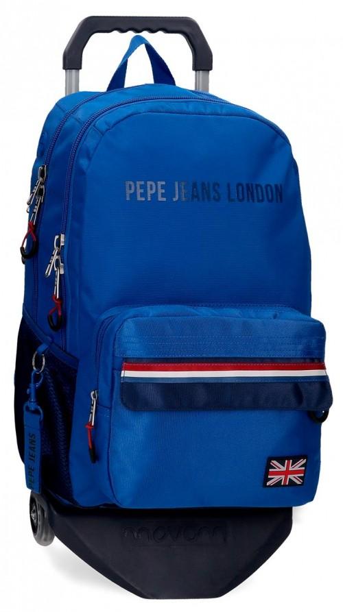 60924T1 mochila 46cm doble comp. con carrro pepe jeans overlap