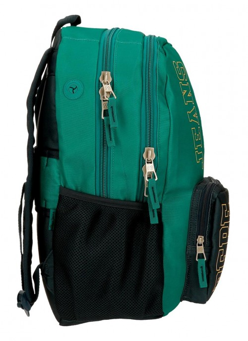 61124D2 mochila 46cm doble compartimento portaordenador  adaptable a trolley pepe jeans mark verde