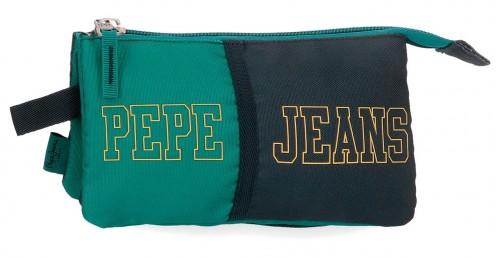 6114322 portatodo triple compartimento pepe jeans mark verde
