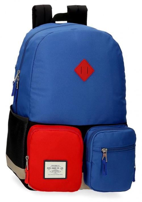 61223D1 mochila portaordenador 44cm adaptable pepe jeans dany azul