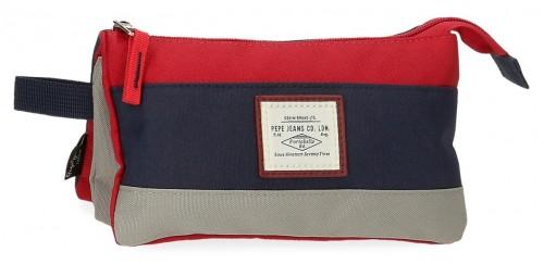 6124322 portatodo triple pepe jeans dany rojo