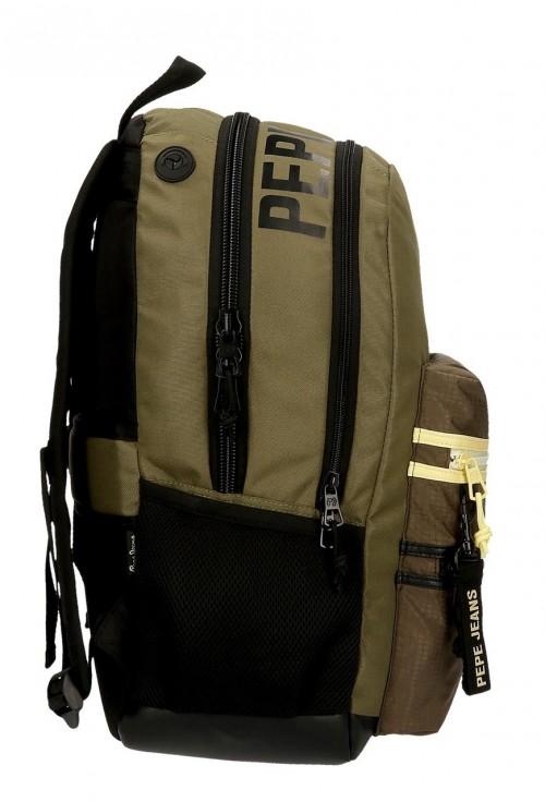 61424D1 mochila 46cm doble compartimento adaptable  pepe jeans caden