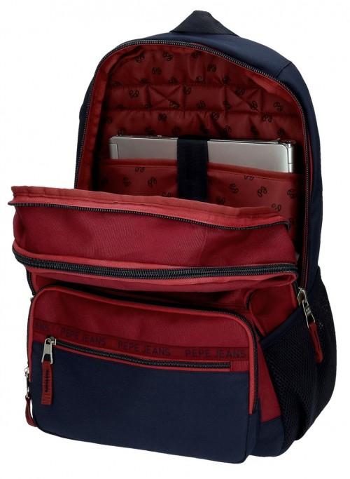 6152421 mochila 46 cm portaordenador doble c.  pepe jeans andy