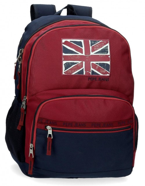 6152521 mochila 46cm doble c. adaptable pepe jeans andy