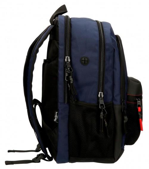 6162521 mochila 44cm doble comp. portaordenador pepe jeans split