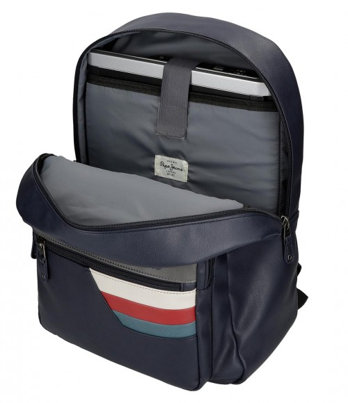 6172321 mochila 44 cm adaptable con portaordenador  pepe jeans eighties
