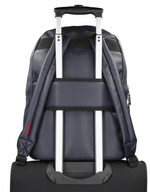 6172321 mochila 44 cm adaptable con portaordenador  pepe jeans eighties