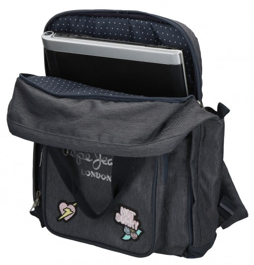 6182221 mochila 40cm portaordenador adaptable pepe jeans emi