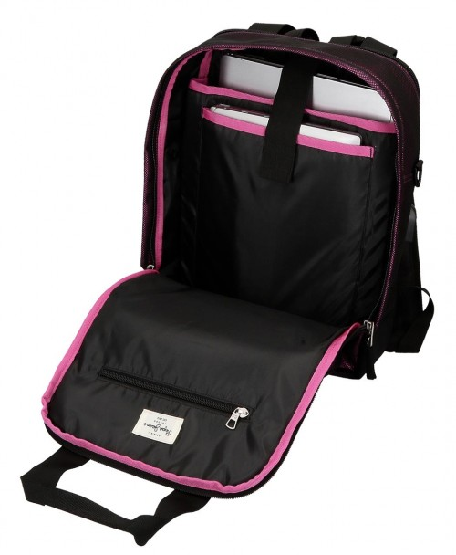 6192221 mochila mediana 37cm con portaordenador adaptable pepe jeans lily