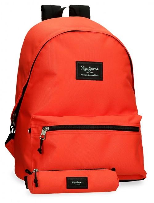 6329222 Mochila Portaordenador más portatodo pepe jeans aris colorfl Naranja