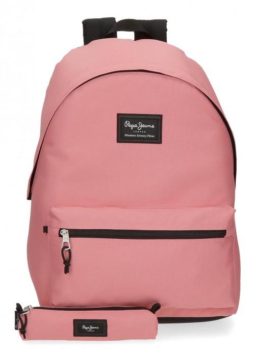 6329223 Mochila Portaordenador más portatodo pepe jeans aris colorfl rosa