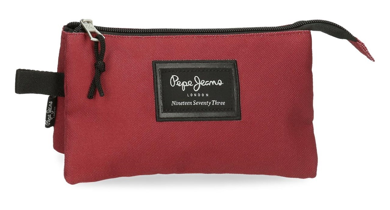 Portatodo Triple Pepe Jeans Aris Evergreen Rojo 6334328