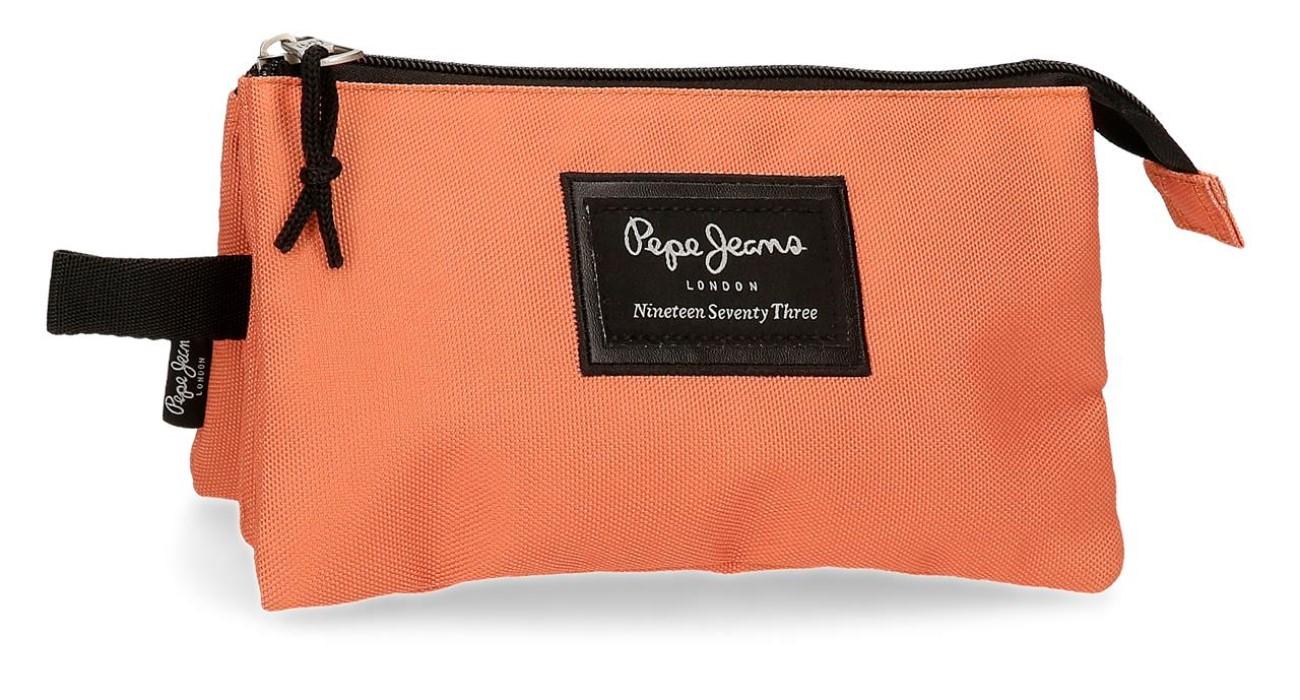 Portatodo Triple Pepe Jeans Aris Evergreen Naranja 6334329