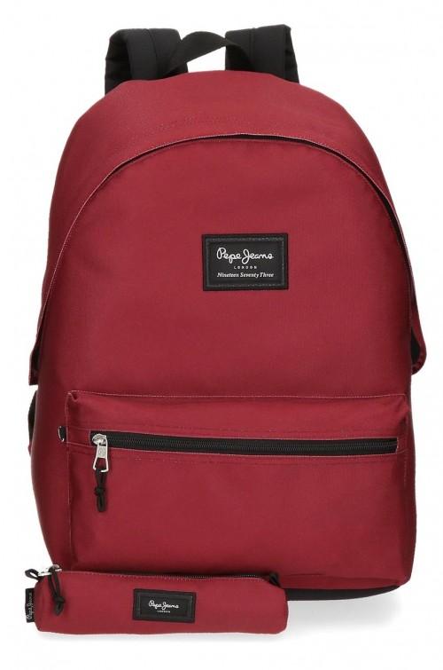 6339223 mochila portaordenador más portatodo pepe jeans aris evergr rojo