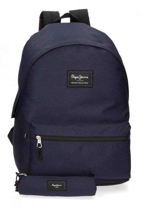 6339226 mochila portaordenador más portatodo pepe jeans aris evergr marino