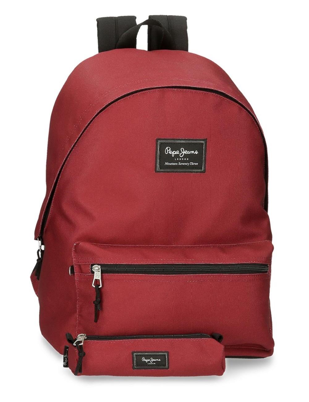 Mochila Portaordenador más Portatodo Pepe Jeans Aris Evergren Rojo Oscuro 6339228