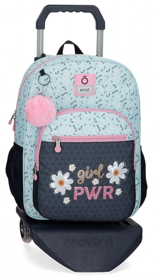 90222T1  mochila mediana 38cm con carro enso girl power
