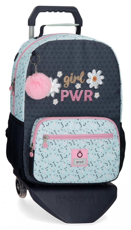90223T1 mochila grande 42cm con carro enso girl power