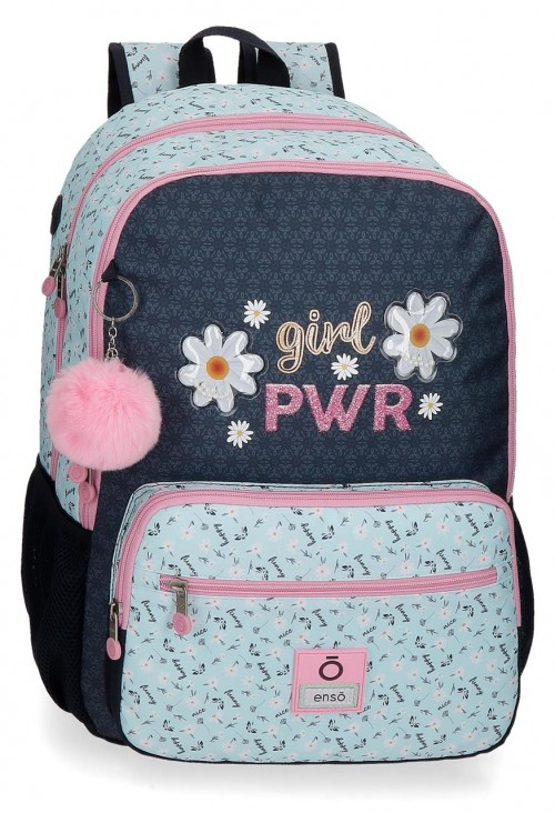 90224D1 mochila grande 44cm adaptable de doble comp. enso girl power